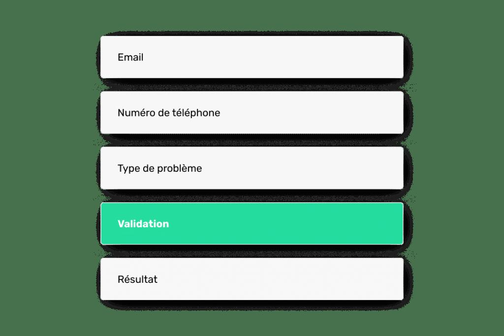 chatbot formulaires